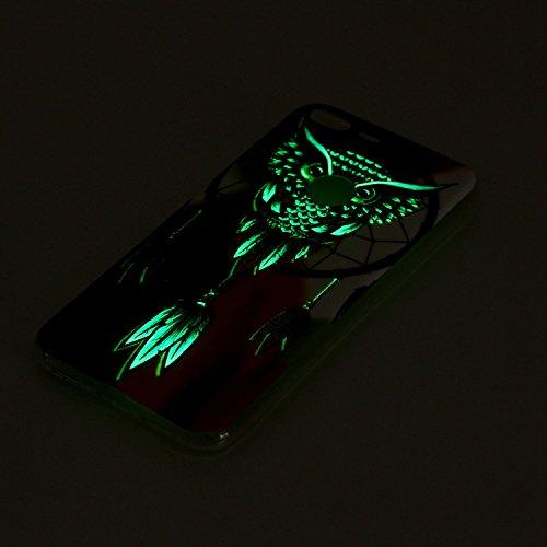Funda Google Pixel XL Luminosa,SainCat Moda Alta Calidad suave de TPU Silicona Suave Funda Carcasa Caso Parachoques Diseño pintado Patrón para Carcasas TPU Silicona Ultra Delgado Ligero Goma Case Cove Noctámbulo