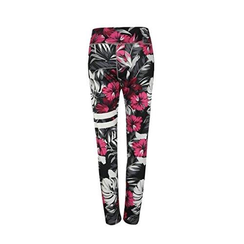 Femmes Yoga Fitness Pantalon Sport Taille De Leggings lastique Imprimer zahuihuiM Noir Mode Mid AZwUqwd