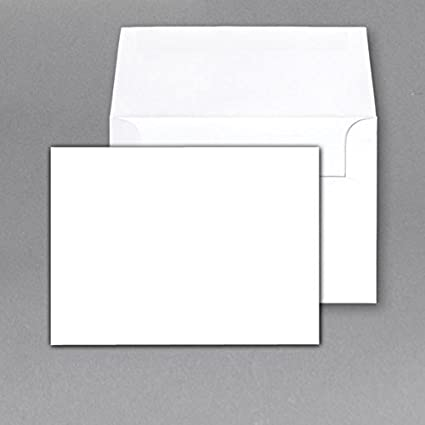 amazon com 100 lb white heavy blank note cards and envelopes size