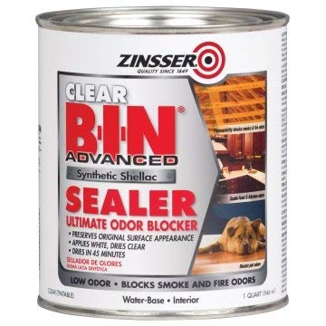 Zinsser B-I-N 32 Oz Clear Advanced Synthetic Shellac Sealer Package of 4