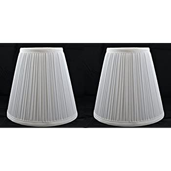 Urbanest 1101484 Off White Mushroom Pleated Hardback Lamp