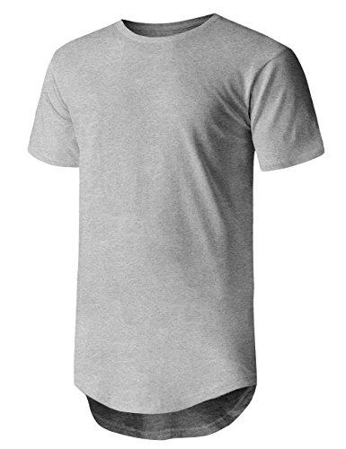 (Ma Croix Mens Basic Hipster T Shirt (X-Large, 1ks19_Hgray))