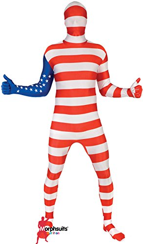 Morphsuits Men's USA Original Flag Fancy Dress Costume,