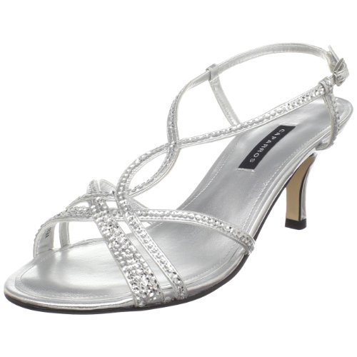 Caparros Women's Pandora Slingback Sandal,Silver Metallic,7.5 M US