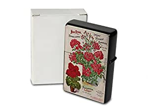 Encendedor De Gasolina Impreso Recargable Rosas