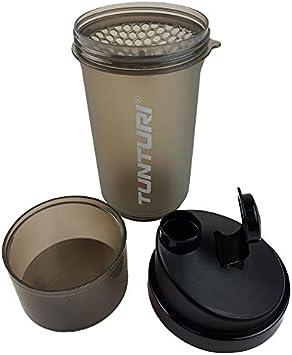 Tunturi Vaso coctelero de proteínas con almacenamiento 600 ml ...