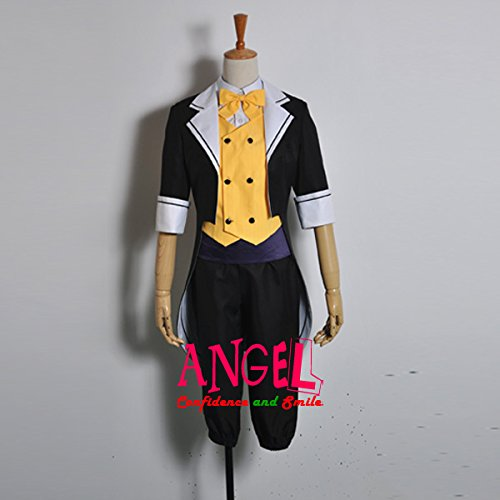 【サイズ選択可】女性Sサイズ A1J00830 コスプレ衣装 VOCALOID 夢喰い白黒バク 鏡音レン LEN 女性Sサイズ  B01N3XG83L