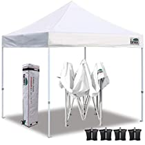 Eurmax 10x10 Ez Pop Up Canopy Tent Commercial Instant Shelter with Heavy Duty