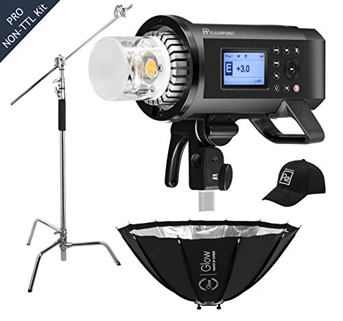 Flashpoint XPLOR 600PRO R2 HSS Battery-Powered Monolight Kit with Glow ParaPop and C-Stand. ()