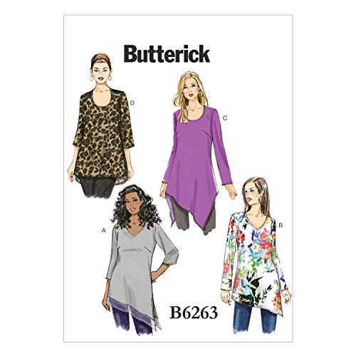 BUTTERICK PATTERNS B6263RR0 Women's Tunic, RR (18W-20W-22W-24W)