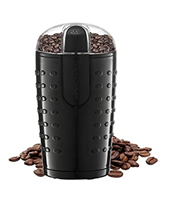 Ovente Electric Grinder with Stainless Steel Blades for Coffee Beans, Spices, Nuts, Grains, Black (CG225B)