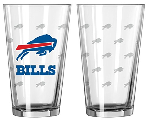 falo Bills Satin Etch Pint Glass Set (Buffalo Bills Glass)