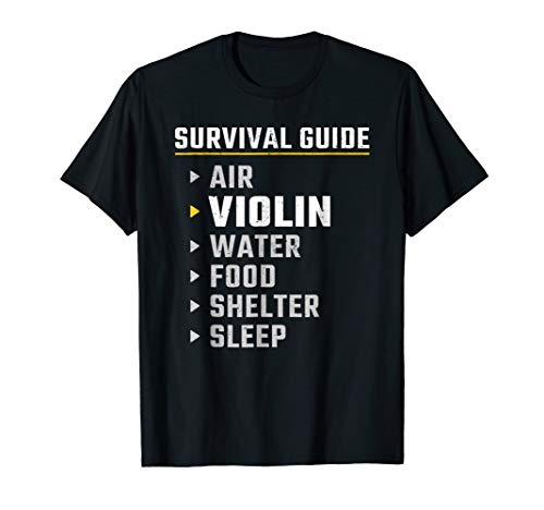 (Violin Player Survival Guide Shirt : Funny Violinist Gift )