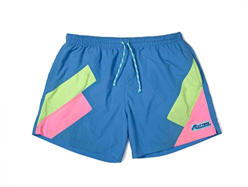 Cutters Apparel Men's Retro Swim Trunks Surf Board Shorts with Mesh Lining - Soup Bowl, ()