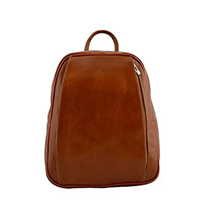 Dream Leather Bags Made in Italy Genuine Leather Genuine Leather Backpack  Color Cognac best 7d9993d7af