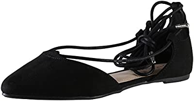 Bamboo Women's Sequel-04S Ghillie Ankle Wrap Flat