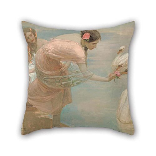 Roll Winter Room Wonderland (Oil Painting Rupert Bunny - A Summer Morning Pillow Cases 20 X 20 Inches / 50 By 50 Cm Gift Or Decor For Her Teens Drawing Room Bar Kids Girls Kitchen - 2 Sides)