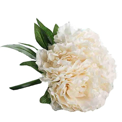 Magnolia Floral Bouquet,Han Shi Modern Artificial Fake Flowers Leaf Wedding Party Decor (S, BeigeA)