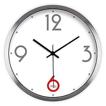 Moju super silencioso muro relojes marcando no barrido tranquila relojes decorativos para el Salón Dormitorio Comedor Office , cable de metal del bastidor ...