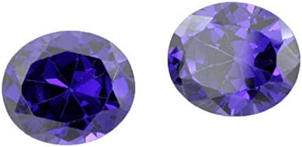 skyjewels 15.00 Carat Oval Shape Natural 2 Pcs. Pair Zircon Gemstone with Certificate