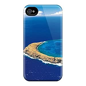 First-class Case Cover For Iphone 4/4s Dual Protection Cover Island
