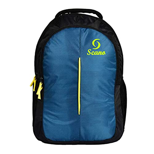 School Bag Stylish Casual Backpack College Bag for Boys/Girls Waterproof Shoulder Bag Blue, Black25 L