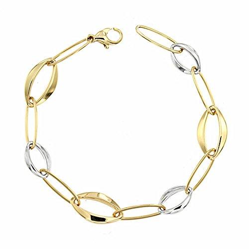 Bracelet 18k 19.5cm bicolor d'or. [AA1692]