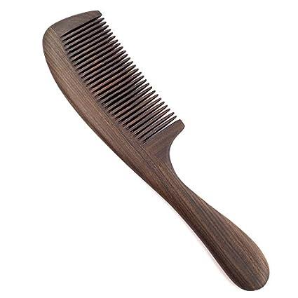 Alta calidad de los hundidos squibb peine de madera grande el peine alisador antiestático