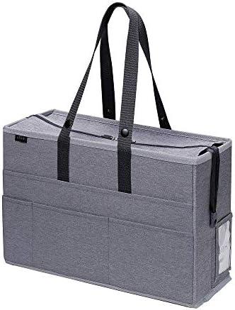 ソニック フタ付キャビネットバッグ ユートリム ノートPC対応 グレー UT-1091-GL 【まとめ買い3個セット】