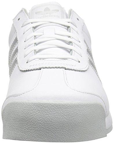 Adidas Originali Mens Samoa Retrò Sneaker Bianco / Argento Metallizzato / Grigio Chiaro