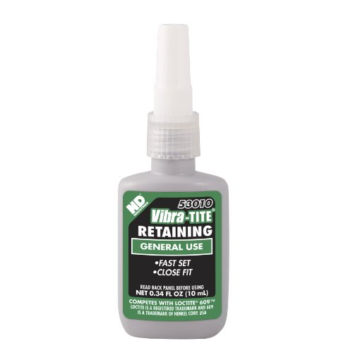 Vibra-TITE 530 General Purpose Anaerobic Retaining Compound, 10 ml Bottle, Green