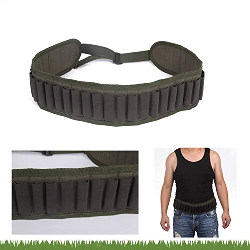 30 Rounds Ammo Shells Belt Shotgun Cartridges Carrier Adjustable Waist Shoulder Belt for Shooting Hunting Gun Accessories
