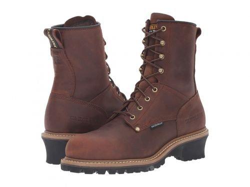 Carolina(カロライナ) メンズ 男性用 シューズ 靴 ブーツ 安全靴 ワーカーブーツ Elm Waterproof Plain Toe Logger ST CA9821 Copper Crazyhorse [並行輸入品] B07DNQSXNR 10 D Medium