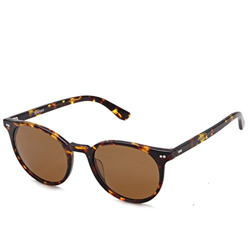 (SH014C2)Hourvun TortoiseShell Round Men&Women Sunglasses Polarized Lens UV Protection - Tortoiseshell Sunglasses Round
