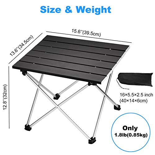 Picnic Ultralight Compact with Carry Bag for Outdoor Indoor Cooking Portable Camping Table Office Beach Aluminum Collapsible Table top Nice C Folding Table BBQ Festival