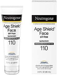 Neutrogena Age Shield Face Loción de protección solar sin aceite con amplio espectro SPF 70, protector solar h
