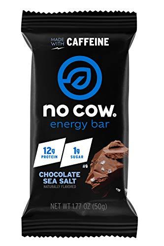 (No Cow Chocolate Sea Salt Energy bar, 12Count)