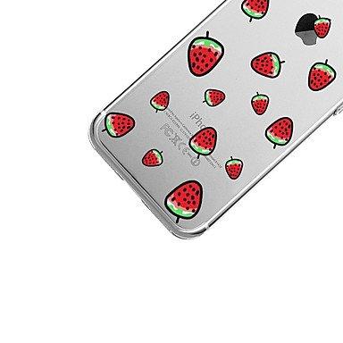 Fundas y estuches para teléfonos móviles, Para el iphone 7 más la caja transparente de la contraportada del patrón de la cubierta de la caja de 7 casos tpu suave de la fruta de la ( Modelos Compatible IPhone SE/5s/5