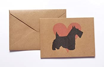 Scottish Terrier Pink Heart Stationery Note Card Set