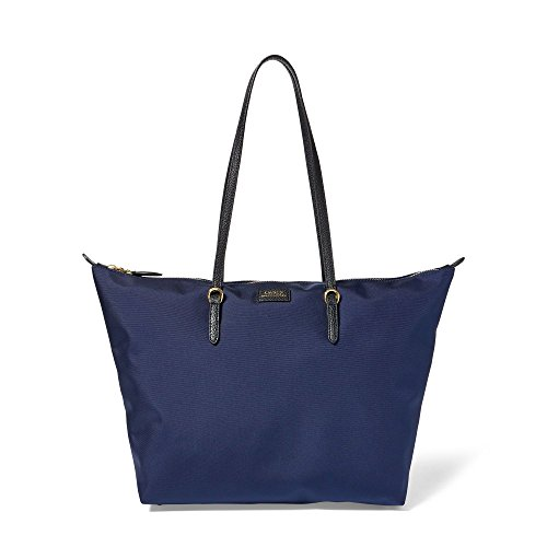 NYLON TOTE MEDIUM NAVY LAUREN RALPH aEqgS