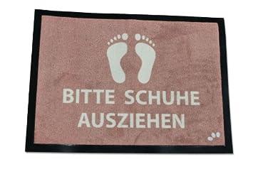 12a6d63fe64c6f Geschenkbox Fussmatte - Bitte Schuhe ausziehen in 60x40 cm Größe aus Velour