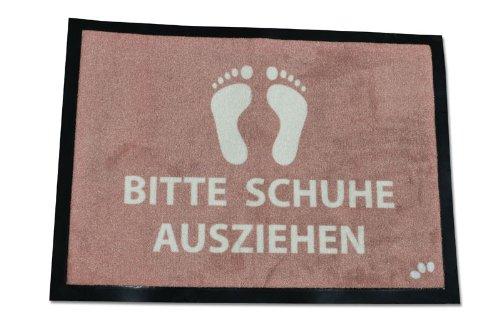 Bitte Schuhe Ausziehen fussmatte bitte schuhe ausziehen in 60x40 cm größe aus velour