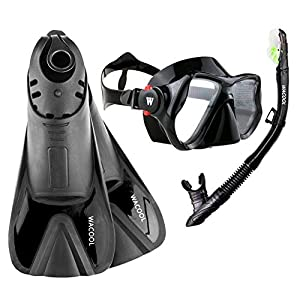 Well-Being-Matters 41dhvI79r3L._SS300_ WACOOL Adults Snorkeling Snorkel Scuba Diving Package Set Gear with Travel Full Foot Short Swim Pocket Fins Anti-Fog…
