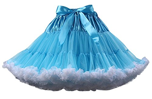 Burlesque Style Dance Costumes (FOLOBE Adult Luxurious Soft Chiffon Petticoat Tulle Tutu Skirt Women's Tutu Costume Petticoat Ballet Dance Multi-layer Puffy Skirt)