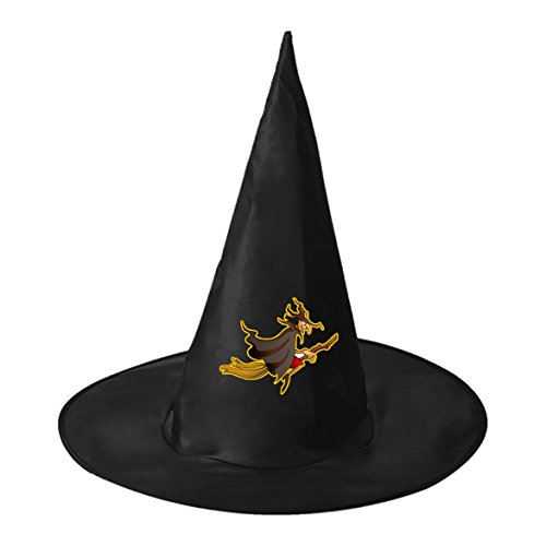 [SeSHU Wicked Warlock Black Magic Hat Witch Cap in Halloween Fancy Ball] (Sorcerer Mickey Costume Pattern)