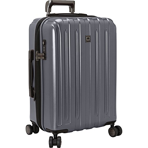 Delsey Luggage Helium Titanium, Carry On Luggage, Hard Case Spinner Suitcase, Graphite