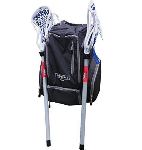 Throwback Gametime Pack - Lacrosse & Field Hockey Bag With Cooler - Perfect Multi-Sport Athlete Backpack Includes Racquet Holder For Tennis, Racquetball + Separate Shoe Compartment