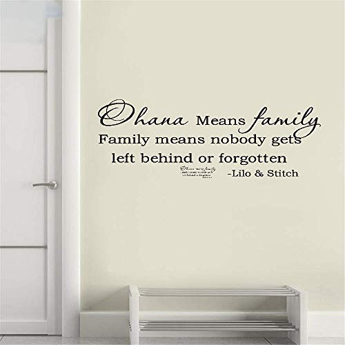 ikonan Vinyl Wall Decals Quotes Sayings Words Art Deco Lettering Inspirational Ohana Means Family Family Means Nobody Get Left Behind Or Forgotten for Bedroom Living -