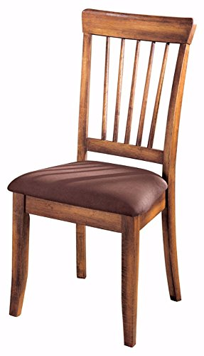 Ashley Furniture Signature Design - Berringer Dining Side Chair - Spindle Back - Set of 2 - Hickory Stain Finish (Covered Dining Room Chairs)
