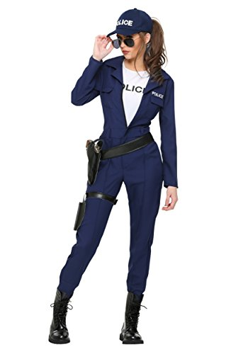 Buddy And Jovi Costumes (Women's Plus Size Tactical Cop Jumpsuit 2X)